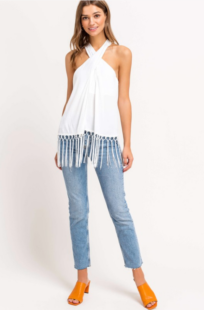 HALTER FRINGE TOP