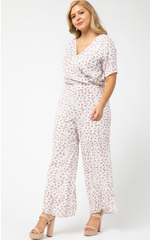 SPOTTED JUMPSUIT - As You Go Boutique
