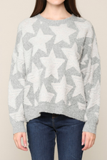 PULLOVER STAR SWEATER IN GREY