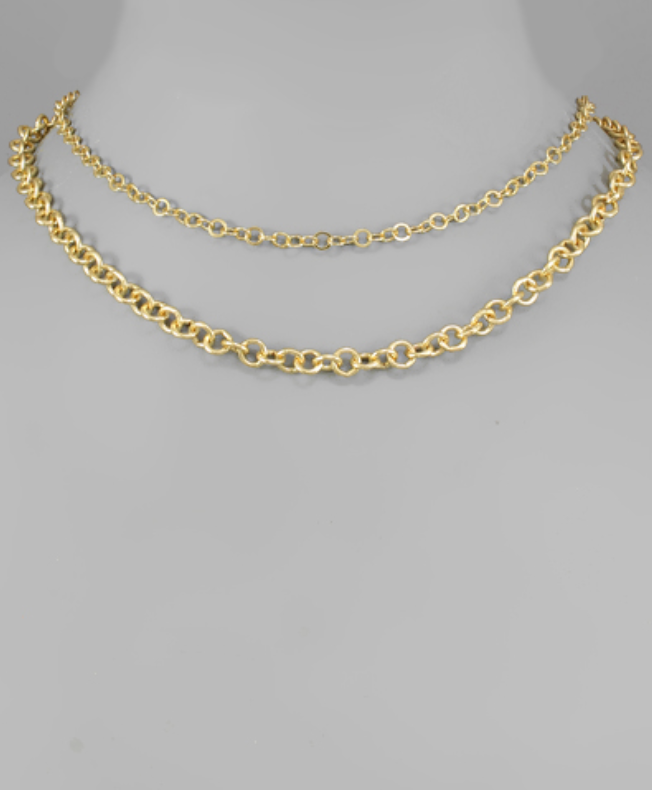 CIRCLE CHAIN LAYER NECKLACE