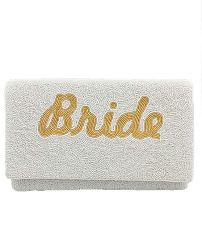 BRIDE EMBROIDERED BEAD CLUTCH