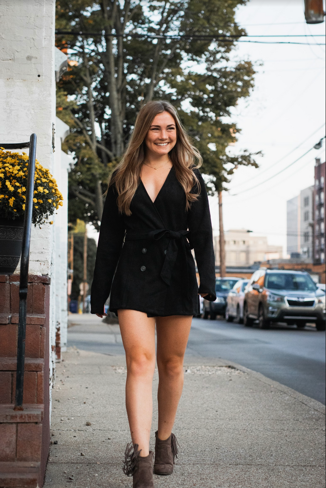 Shop THE SUEDE BABE ROMPER IN BLACK -- As You Go Boutique