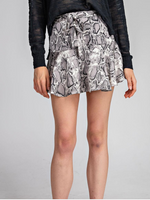 BRENNA MINI SKORT IN SNAKESKIN