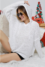 Shop IN THE CLOUDS WHITE HOODIE -- As You Go Boutique