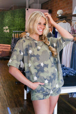Shop ARMY LOUNGE TOP -- As You Go Boutique