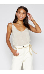 BOARDWALK KNIT TANK IN BEIGE