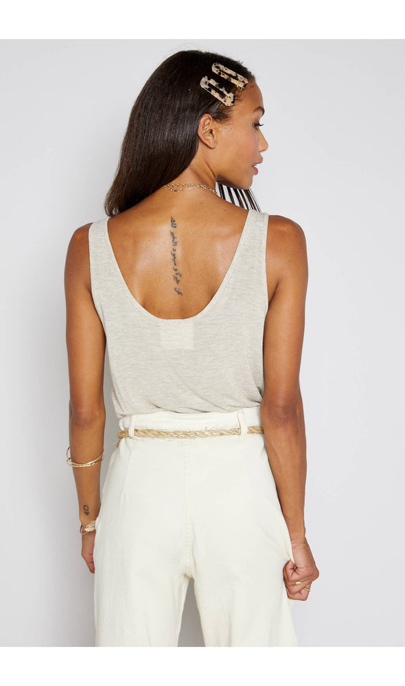 BOARDWALK KNIT TANK IN BEIGE - As You Go Boutique