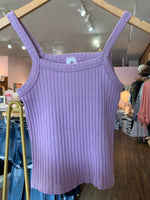 SWEATER KNIT CAMI IN LILAC