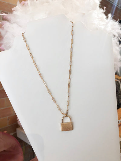 Shop LOCKER PENDANT NECKLACE -- As You Go Boutique