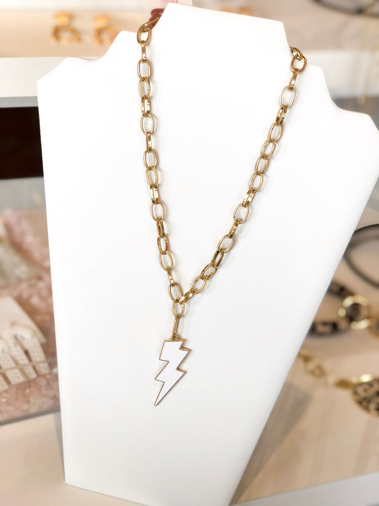 Shop LIGHTNING CHARM NECKLACE -- As You Go Boutique