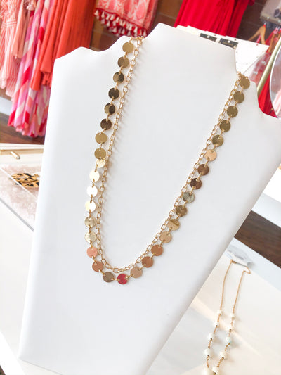 Shop DISC CHAIN LAYER NECKLACE -- As You Go Boutique