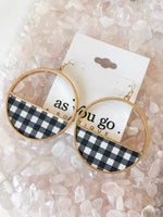 BUFFALO PLAID HOOPS