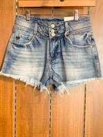 Shop KAN CAN HIGH WAISTED DENIM SHORTS -- As You Go Boutique