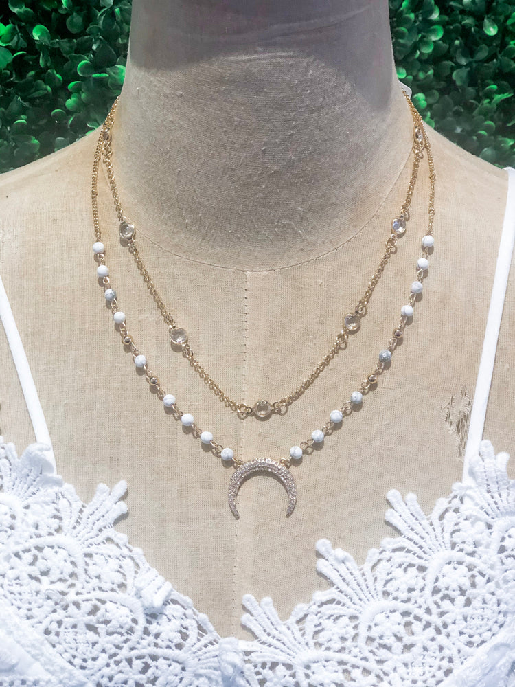 Shop CRESCENT BEAD NECKLACE -- As You Go Boutique
