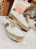 GOLD SPARKLE SNEAKERS