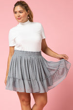 GREY DOT SKIRT