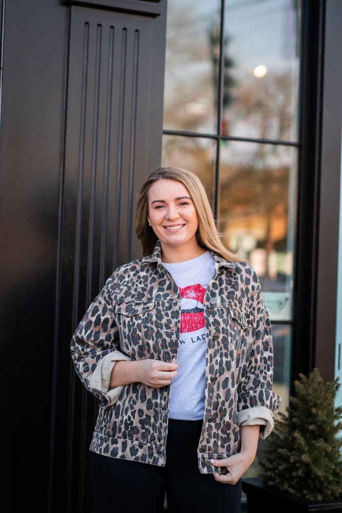Shop CHEETAH LOVE JACKET -- As You Go Boutique
