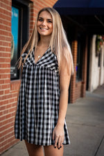 RILEY GINGHAM ROMPER - As You Go Boutique