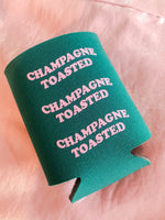 CHAMPAGNE TOASTED KOOZIE - As You Go Boutique