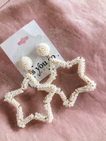Shop PEARL STAR EARRINGS -- As You Go Boutique