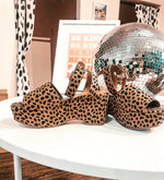 CHEETAH PLATFORM SHOES