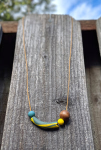 Blue + Yellow Necklace