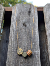 Load image into Gallery viewer, Wood + Polymer Discs Necklace