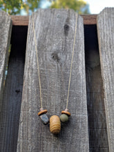 Load image into Gallery viewer, Large Wooden Round Necklace