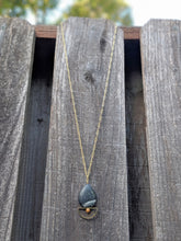Load image into Gallery viewer, Crescent Stone Necklace