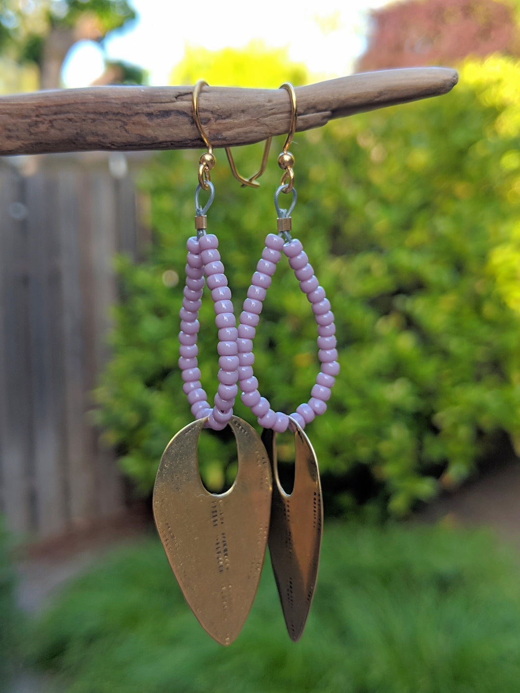 Brass + Lilac Earrings