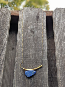 Brass + Lapis Necklace