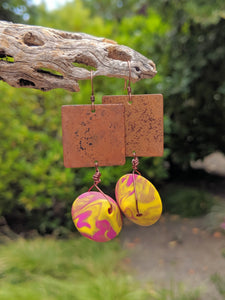 Copper + Blended Lentil Earrings