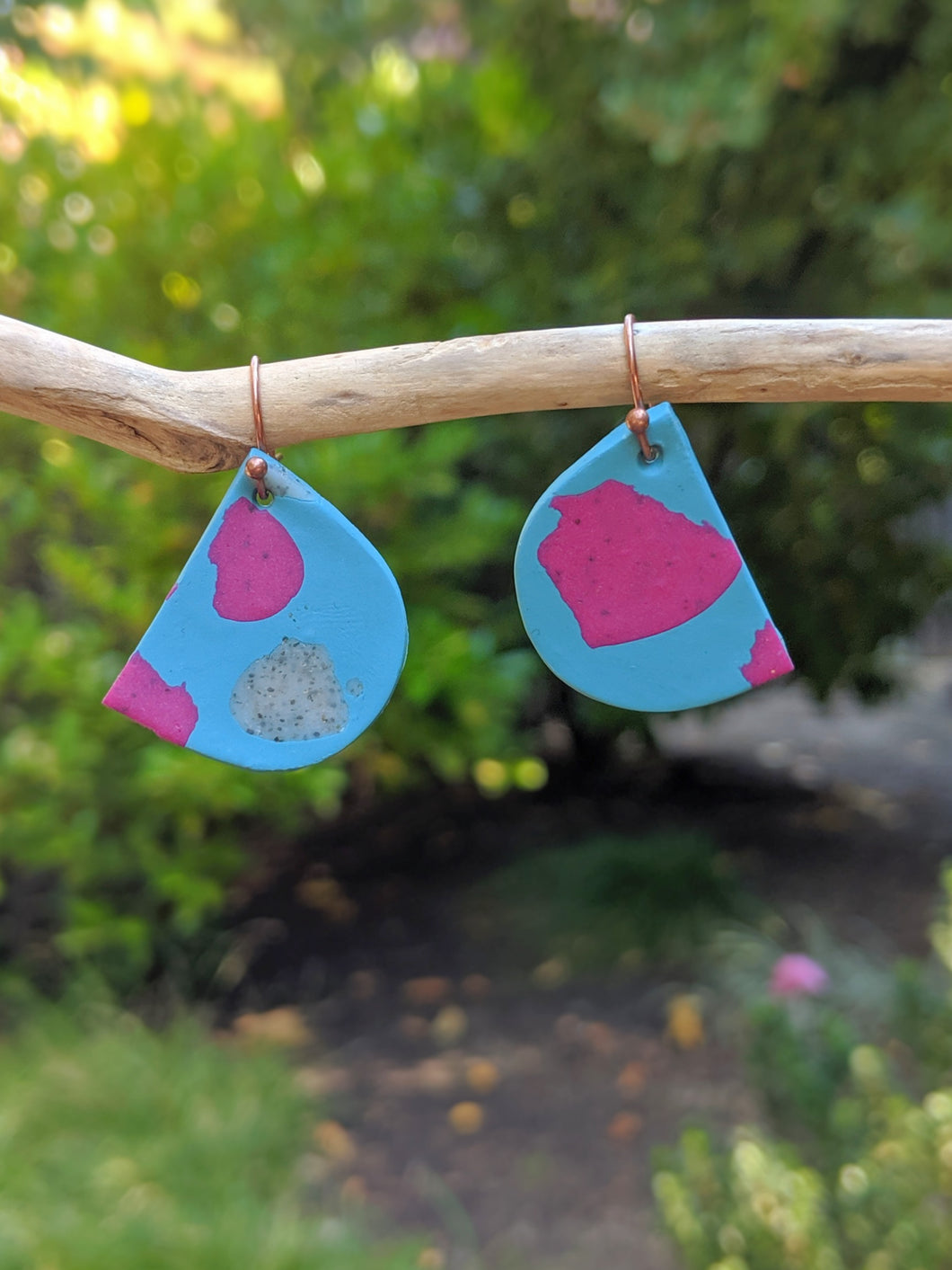 Blue Splatter Earrings