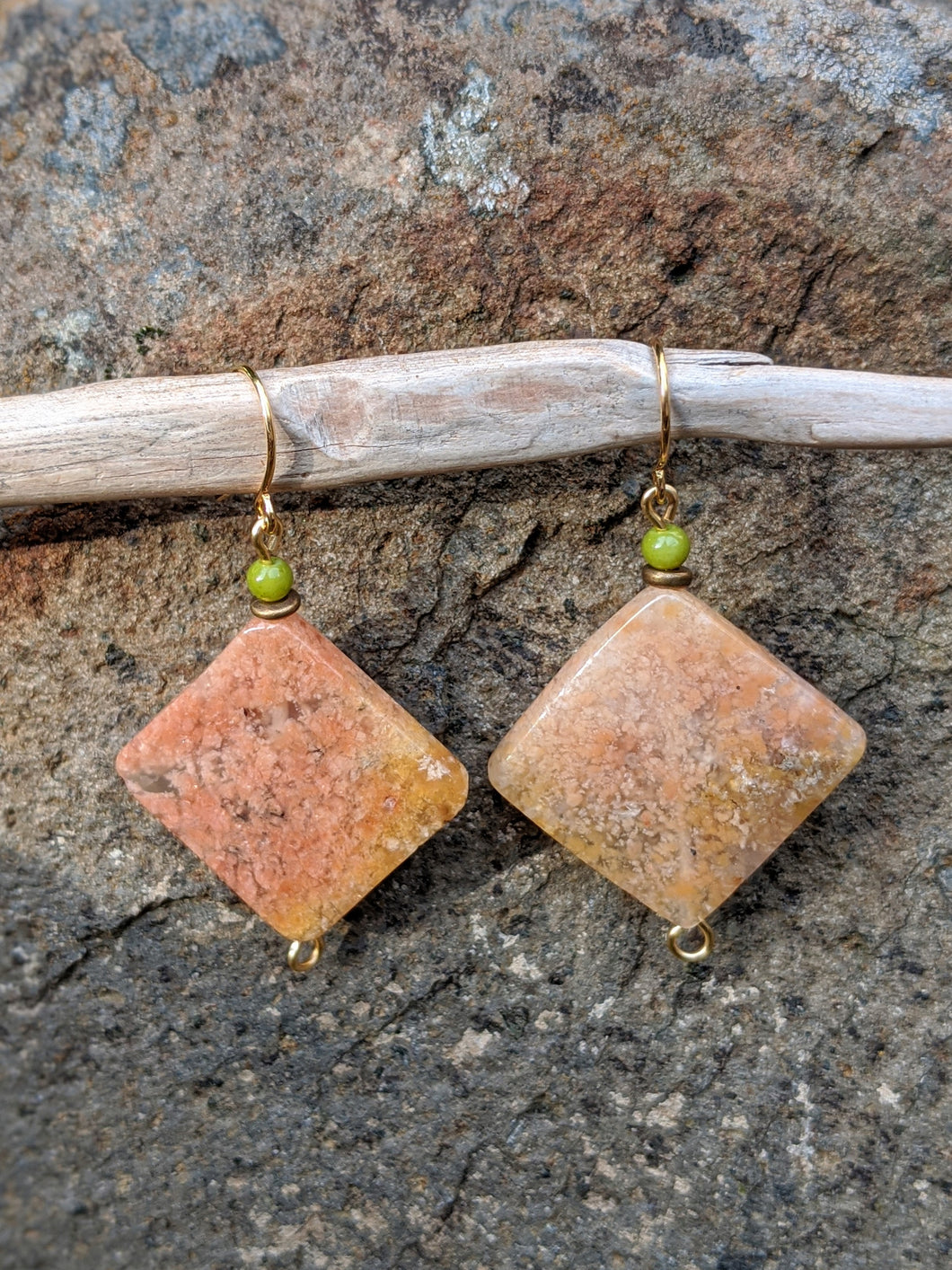 Pink Moss Earrings