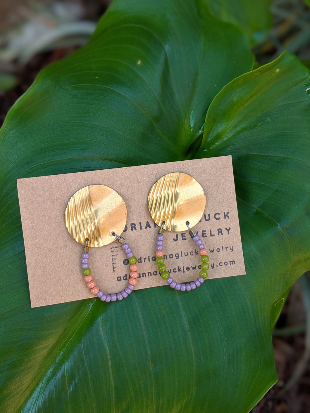 Brass Beauty Cleo Earrings