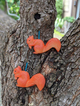 Load image into Gallery viewer, Snacking Squirrel Earrings