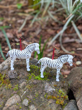 Load image into Gallery viewer, Zainy Zebra Earrings