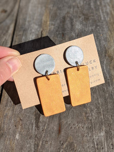 Gold Exclamation Earrings