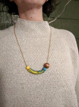 Load image into Gallery viewer, Blue + Yellow Necklace