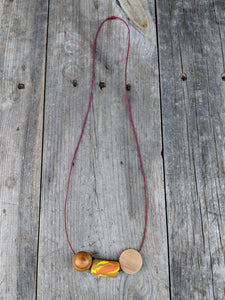 Wood + Polymer Pop! Necklace