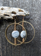 Load image into Gallery viewer, Spinning Jasper Earrings