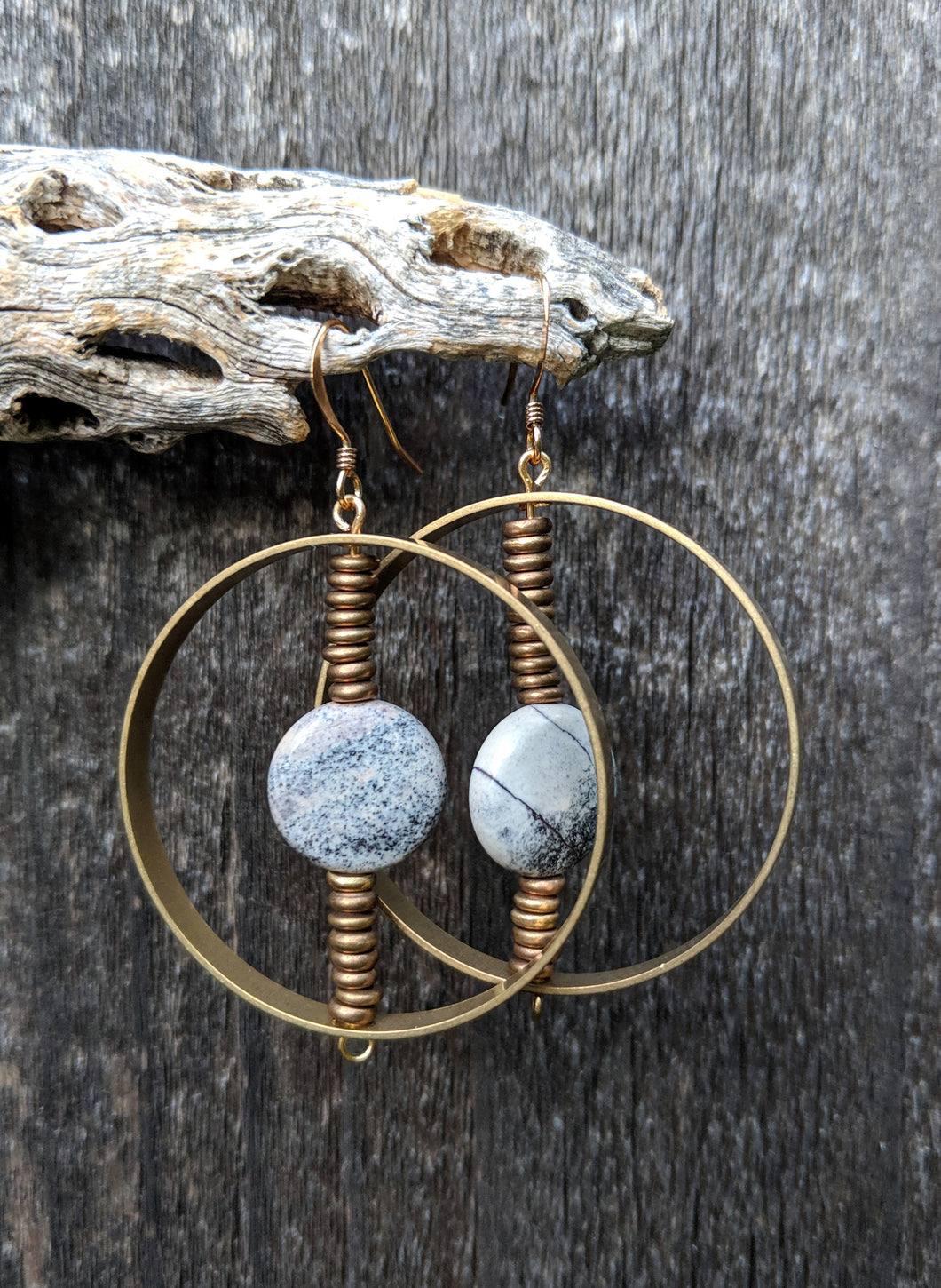 Spinning Jasper Earrings