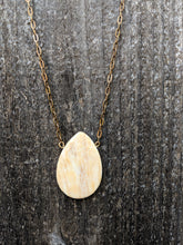 Load image into Gallery viewer, Lemon Jasper Drop Necklace