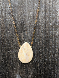 Lemon Jasper Drop Necklace