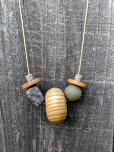 Large Wooden Round Necklace