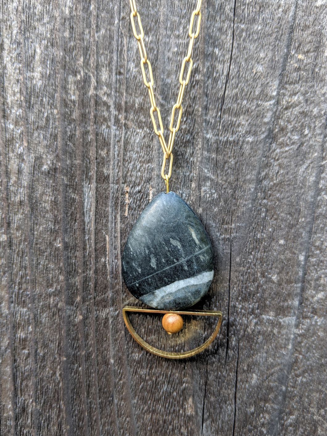 Crescent Stone Necklace