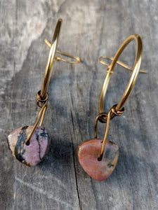 Rhodonite Tricks Earrings