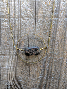 Bronzite Orb Necklace