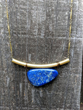 Load image into Gallery viewer, Brass + Lapis Necklace