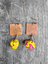 Load image into Gallery viewer, Copper + Blended Lentil Earrings